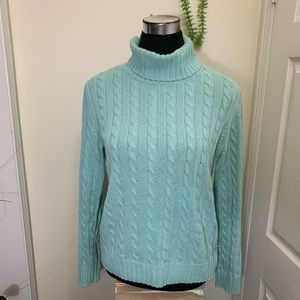 Tommy Hilfiger Cable Knit Cowl Turtleneck Sweater